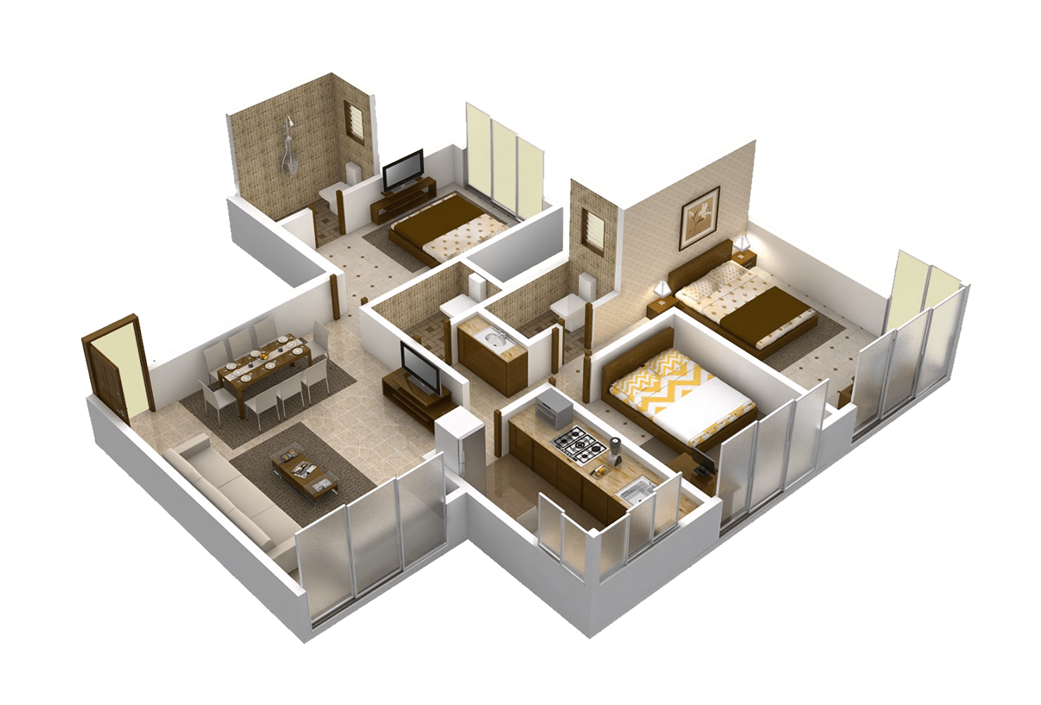 Matoshree Nisarg Floor Plans A wing 935 Sq.Ft. – New Residential Projects In Mulund