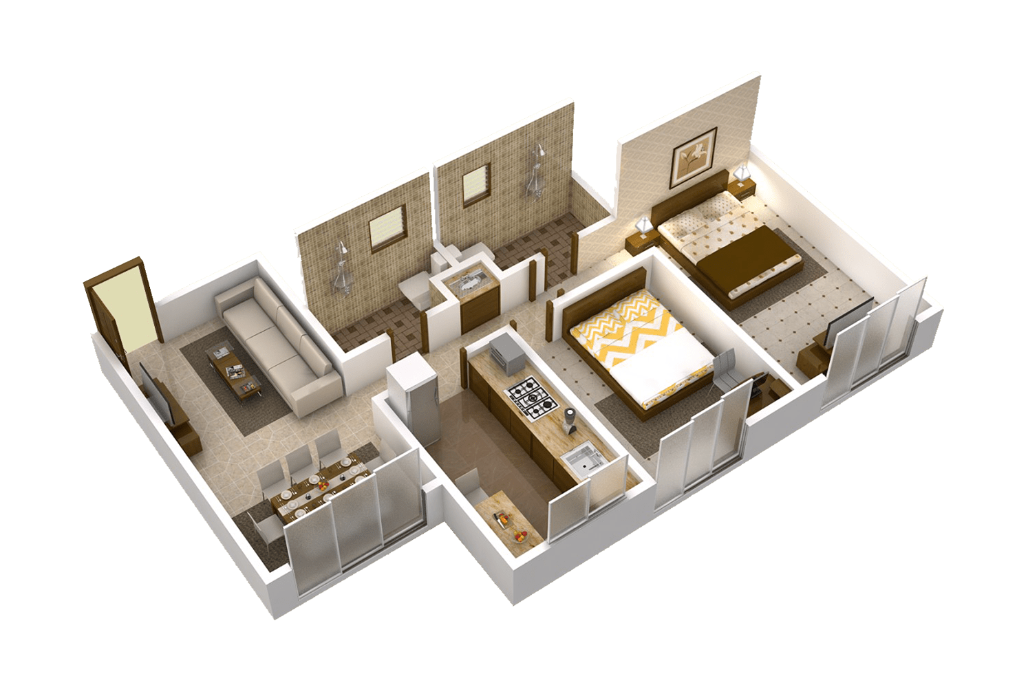 Matoshree Nisarg Floor Plans B wing 690 Sq.Ft. – New Construction In Mulund East