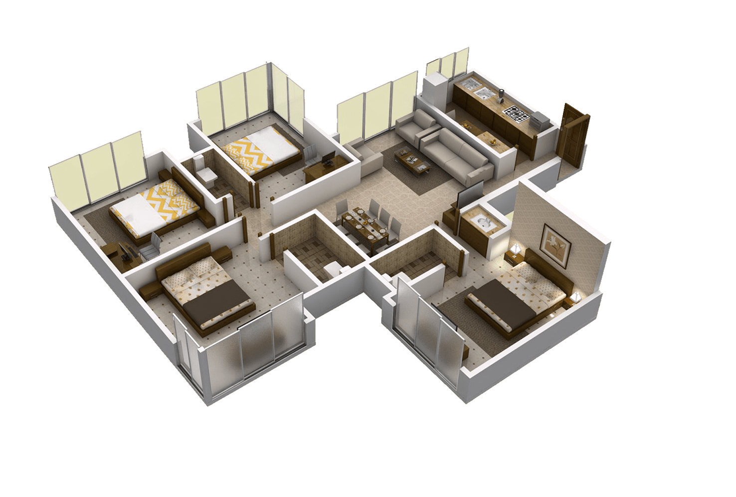 Matoshree Nisarg Floor Plans C wing 1200 Sq.Ft. –Flats for Sale