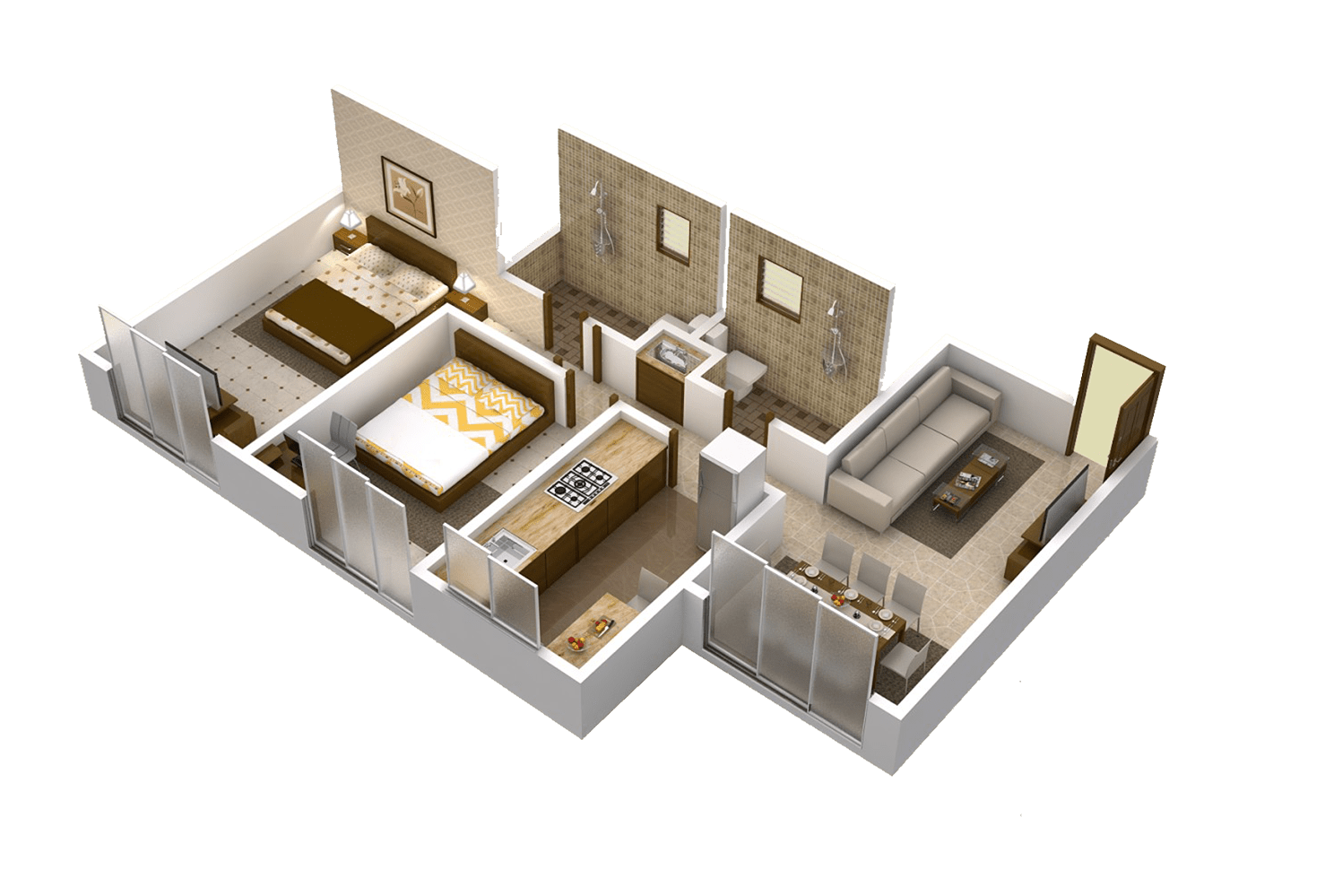 Matoshree Nisarg Floor Plans C wing 690 Sq.Ft. – Mulund East Property for Sale
