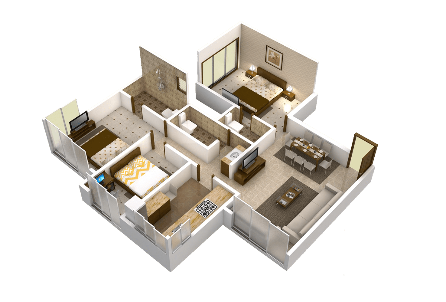 Matoshree Nisarg Floor Plans C wing 900 Sq.Ft. – Mulund Flats for Sale